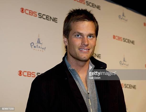 New England Patriot's quarterback Tom Brady attends the grand opening of the CBS Scene Restaurant Bar on September 6 2008 in Boston