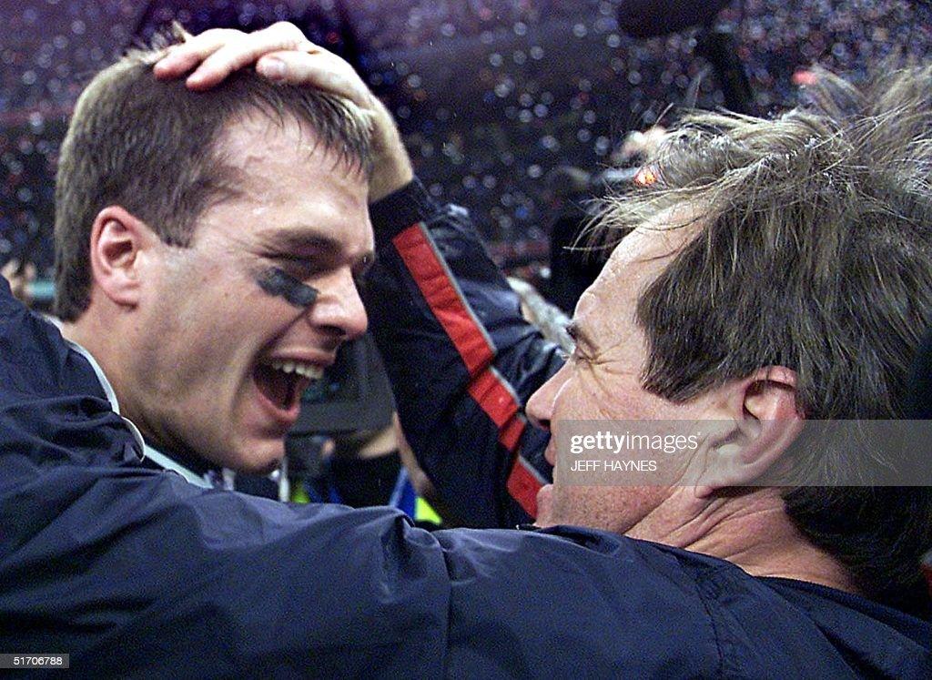 New England Patriots' quarterback Tom Brady celebr : News Photo