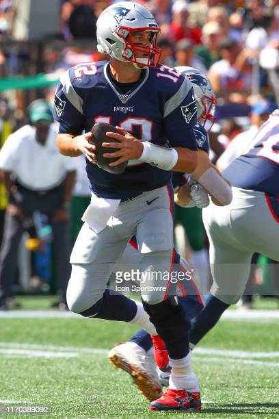New England Patriots quarterback Tom Brady during the first quarter of the National Football League game between the New England Patriots and the New...