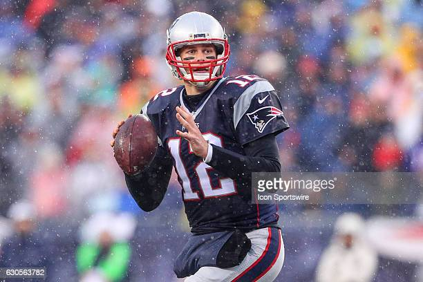 New England Patriots quarterback Tom Brady during the first quarter of the National Football League game between the New England Patriots and the New...