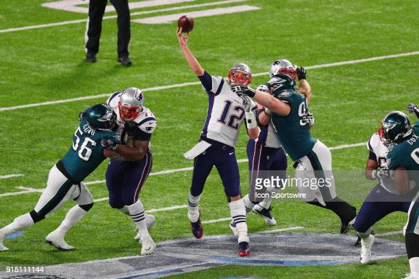 New England Patriots quarterback Tom Brady during the second quarter of Super Bowl LII on February 4 at US Bank Stadium in Minneapolis MN