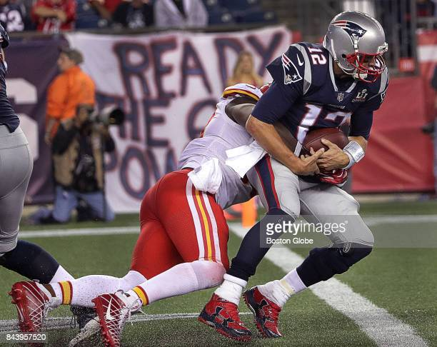 New England Patriots quarterback Tom Brady is sacked on the final Patriots possession in the fourth quarter The New England Patriots host the Kansas...
