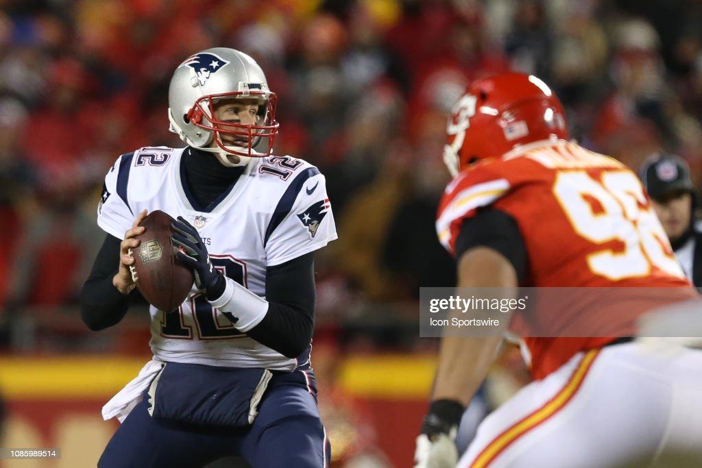 NFL: JAN 20 AFC Championship Game - Patriots at Chiefs : News Photo