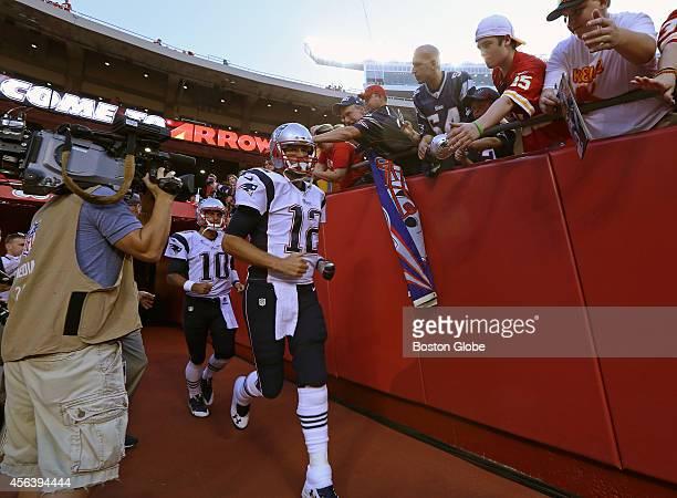 New England Patriots quarterback Tom Brady takes the field The New England Patriots took on the Kansas City Chiefs on September 29 2014 at Arrowhead...