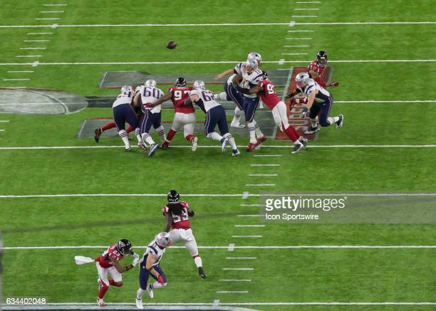 New England Patriots quarterback Tom Brady throws for a pass in the first quarter of the Super Bowl LI between the New England Patriots and Atlanta...