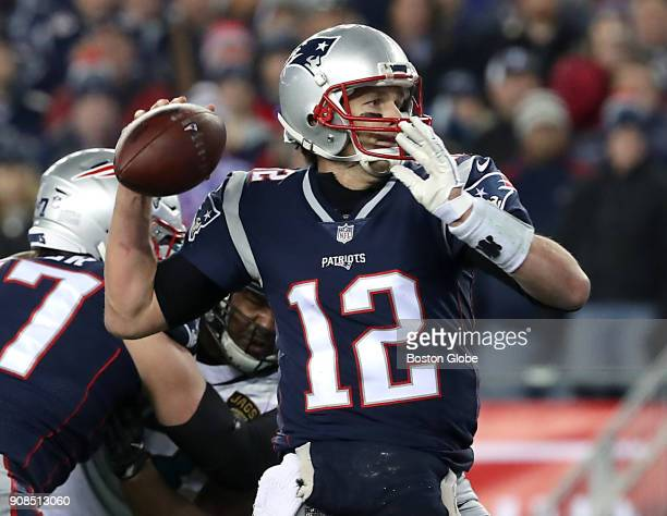 New England Patriots quarterback Tom Brady throws the gamewinning 4yard touchdown pass to Danny Amendola during the fourth quarter The New England...