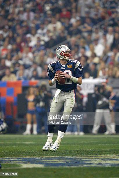 New England Patriots quarterback Tom Brady was awarded MVP of the superbowl at Reliant Stadium on 2/1/2004 in Houston, TX. The New England Patriots...