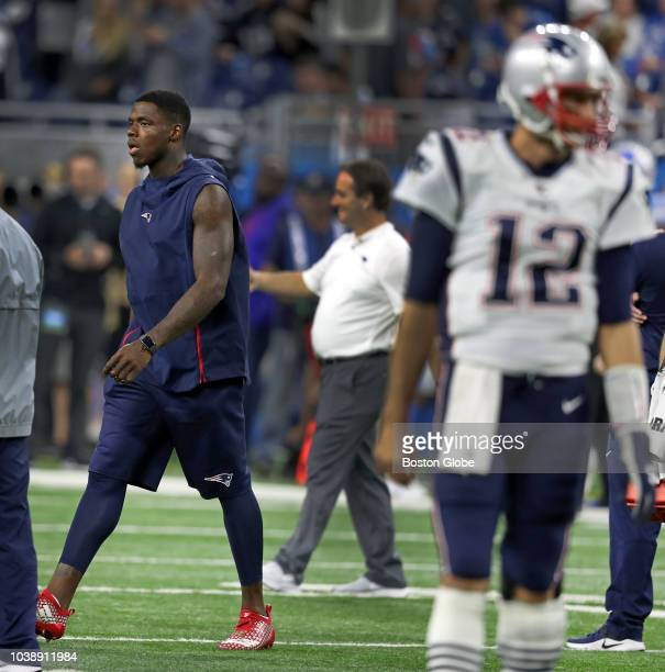 New England Patriots quarterback Tom Brady was in uniform on the field during pre game warmups but wide receiver Josh Gordon was not The New England...