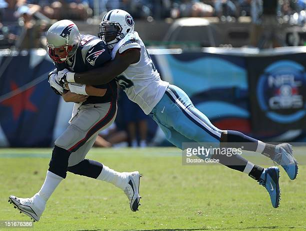 New England Patriots quarterback Tom Brady was sacked once for an eight-yard loss in the second quarter of the New England Patriots season opener...