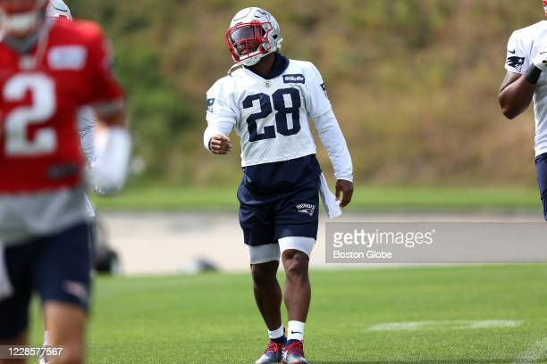 New England Patriots running back James White during New England Patriots practice in Foxborough, MA on Sept. 17, 2020.