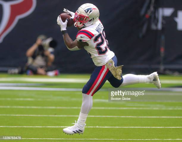 New England Patriots running back James White makes a reception against the Houston Texans during second quarter NFL action. The Houston Texans host...