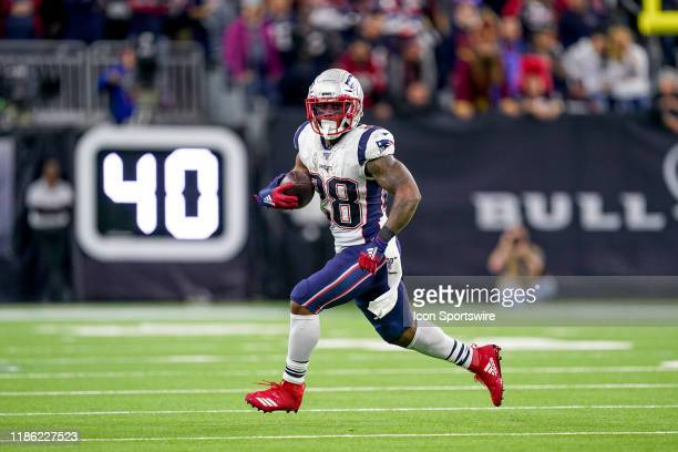 New England Patriots running back James White runs the ball during the game between the New England Patriots and Houston Texans on December 1, 2019...
