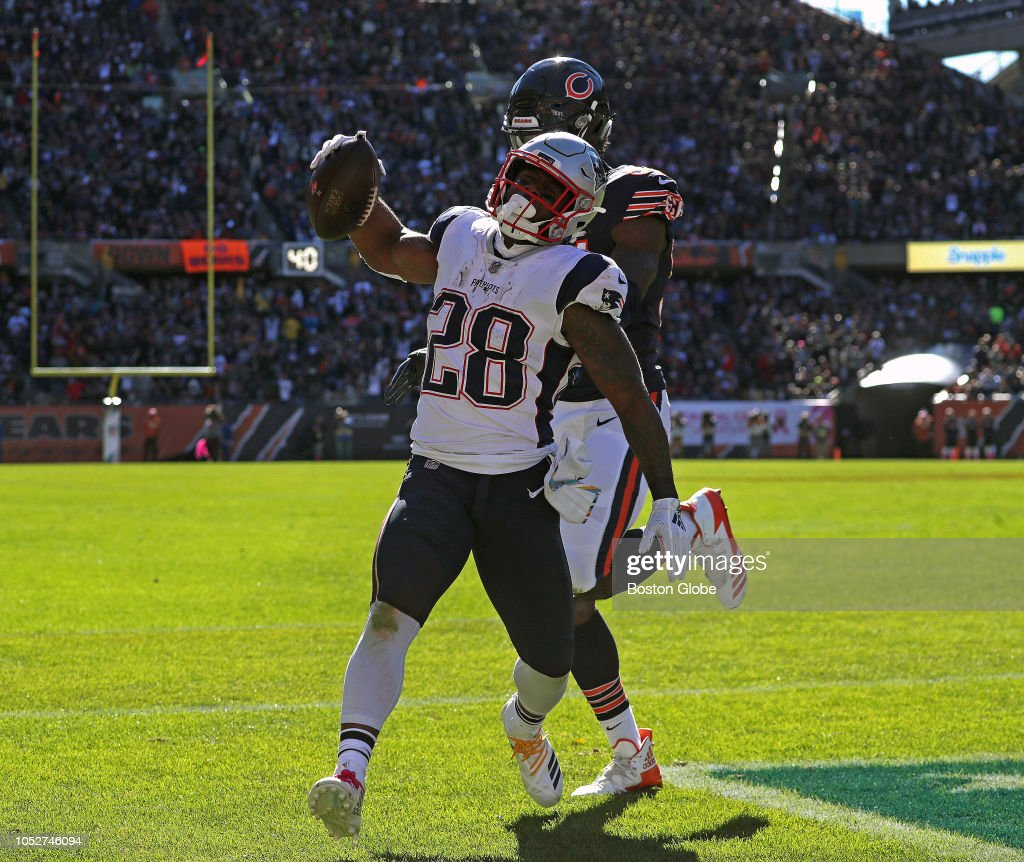 Risultati immagini per bears vs patriots james white