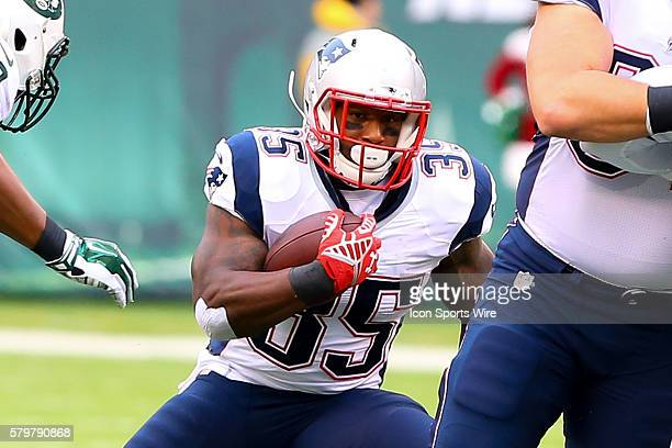 New England Patriots running back Jonas Gray during the game between the New York Jets and the New England Patriots played at MetLife Stadium in East...