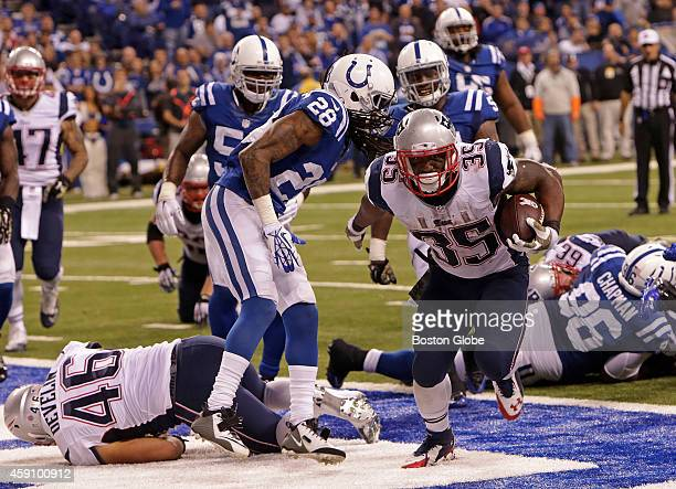 New England Patriots running back Jonas Gray pushes his way into the end zone for a fourth quarter touchdown The New England Patriots took on the...