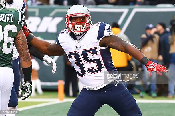 New England Patriots running back Jonas Gray spikes the football after scoring a touchdown during the fourth quarter of the game between the New York...