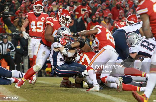 New England Patriots running back Rex Burkhead backs into the end zone with the gamewinning touchdown in overtime The Kansas City Chiefs host the New...