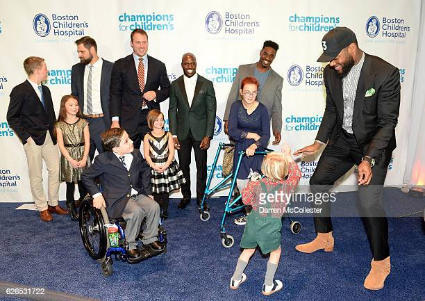 New England Patriots Sebastian Vollmer Nate Solder Devin McCourty Geneo Grissom and Martellus Bennett Bryan Elia Tyler Isabel George and Rachel at...