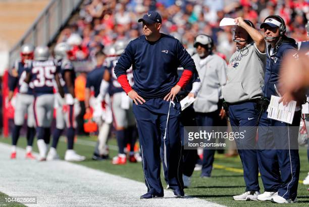 New England Patriots special teams coach Joe Judge during a game between the New England Patriots and the Miami Dolphins on September 30 at Gillette...