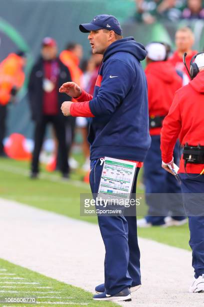 New England Patriots special teams coach Joe Judge during the National Football League game between the New England Patriots and the New York Jets on...