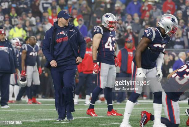New England Patriots special teams coordinator / wide receivers coach Joe Judge before an AFC Wild Card game between the New England Patriots and the...