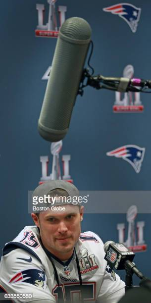 New England Patriots wide receiver Chris Hogan is pictured The New England Patriots held a press availability at their hotel in Houston TX on Feb 1...
