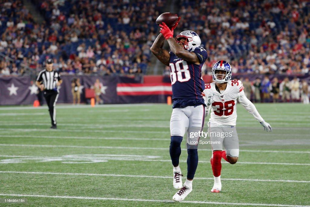 NFL: AUG 29 Preseason - Giants at Patriots : News Photo