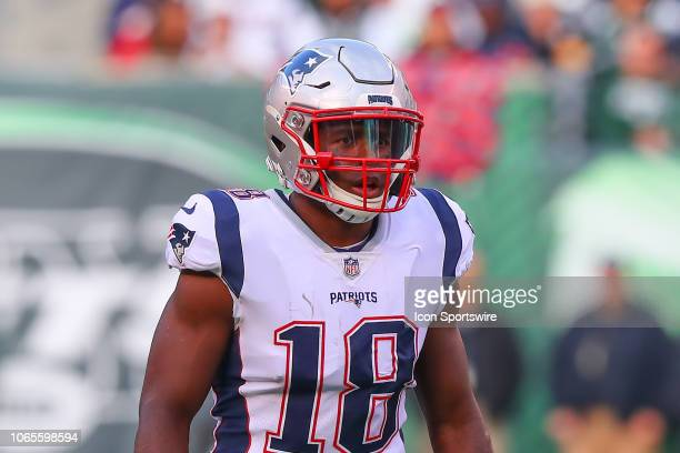 New England Patriots wide receiver Josh Gordon during the National Football League game between the New England Patriots and the New York Jets on...