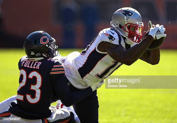 New England Patriots wide receiver Josh Gordon makes the reception for a first down during the second quarter that helped set up a New England...