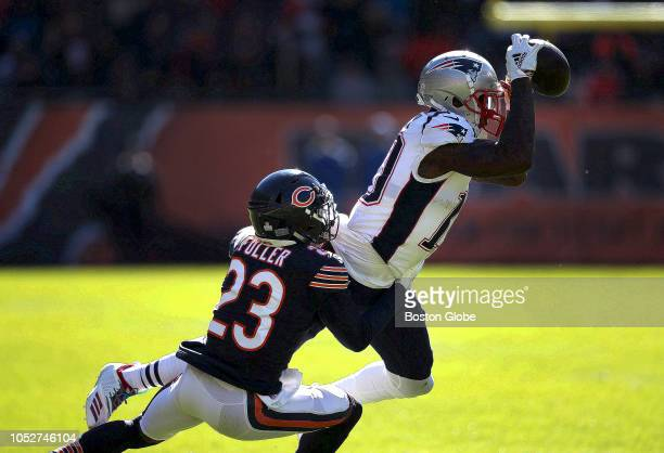 New England Patriots wide receiver Josh Gordon makes the reception for a first down that helped set up New England's touchdown drive in the second...