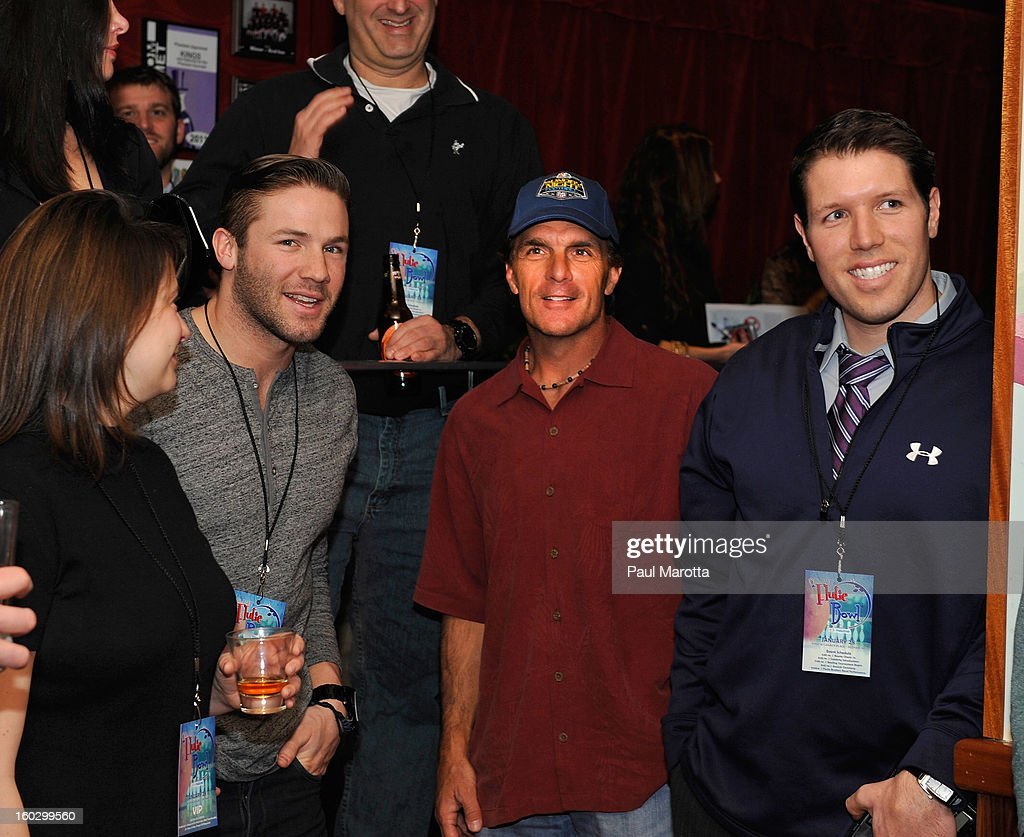 New England Patriots Wide Receiver Julian Edelman and former New England Patriots Quarterback Doug Flutie attends the10th Annual Flutie Bowl to strike out autism at KINGS on January 28, 2013 in Boston, Massachusetts.