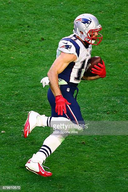 New England Patriots wide receiver Julian Edelman during the second quarter of Super Bowl XLIX The New England Patriots defeat the Seattle Seahawks...