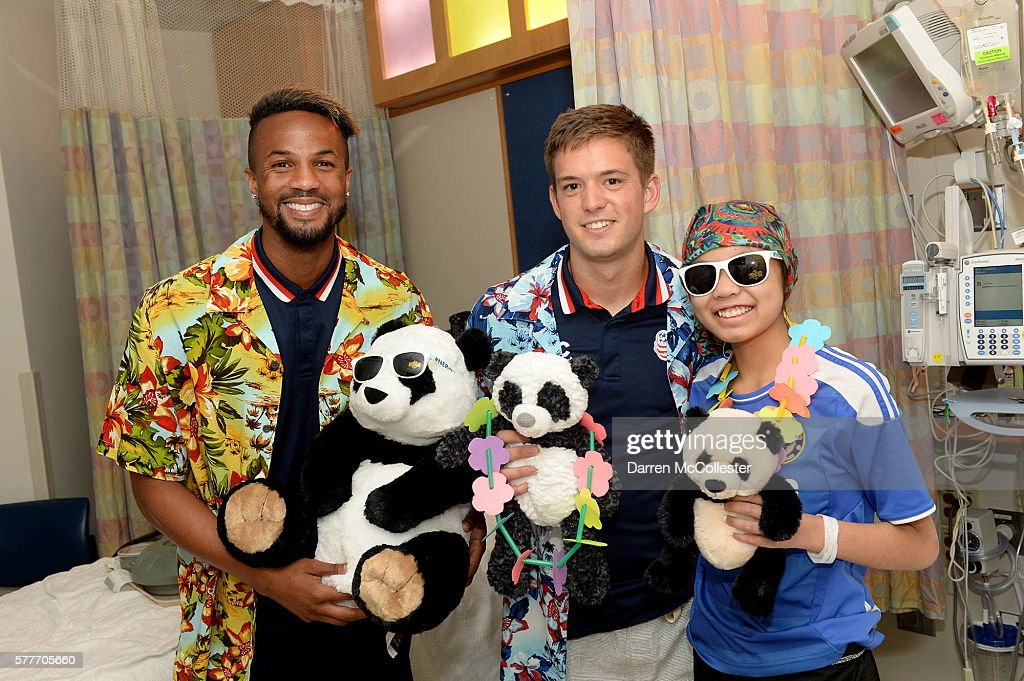 New England Revolution Players Bring Summer Smiles to Patients and Families at Boston Children's Hospital : News Photo