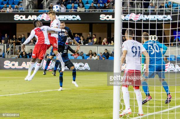 New England Revolution Defender Antonio Mlinar Delamea defends well in the box during the MLS game between the New England Revolution and the San...