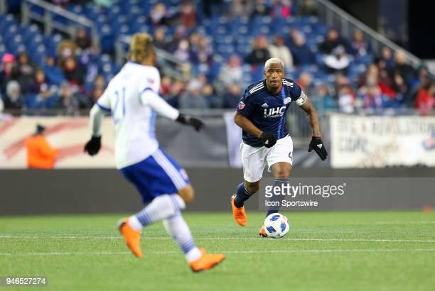 New England Revolution defender Claude Dielna and FC Dallas midfielder Michael Barrios during a match between FC Dallas and New England Revolution on...