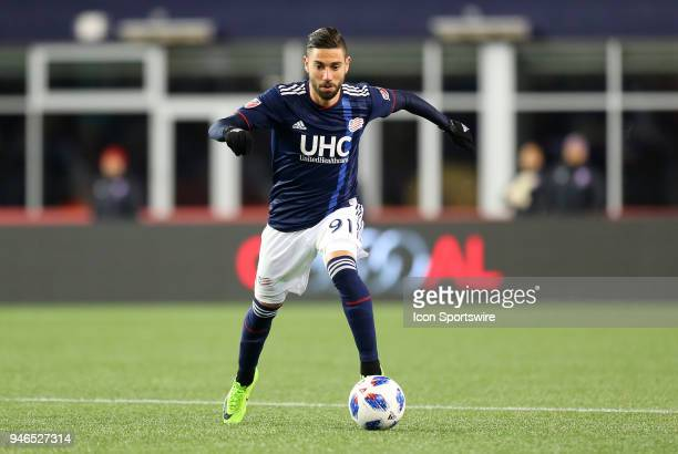 New England Revolution defender Gabriel Somi in action during a match between FC Dallas and New England Revolution on April 14 at Gillette Stadium in...