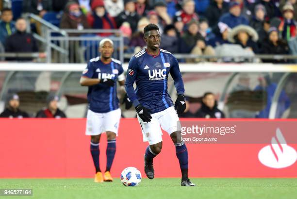 New England Revolution defender Jalil Anibaba during a match between FC Dallas and New England Revolution on April 14 at Gillette Stadium in...