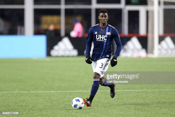 New England Revolution defender Jalil Anibaba in action during a match between FC Dallas and New England Revolution on April 14 at Gillette Stadium...