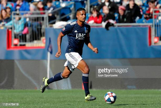 New England Revolution defender Michael Mancienne burins the ball up field during a match between the New England Revolution and Columbus Crew SC on...