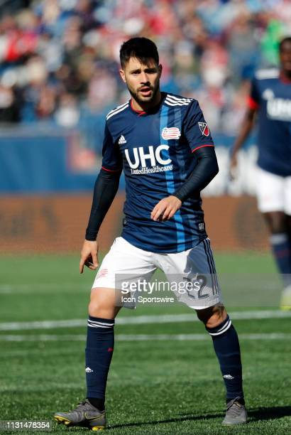 New England Revolution forward Carles Gil during a match between the New England Revolution and Columbus Crew SC on March 9 at Gillette Stadium in...