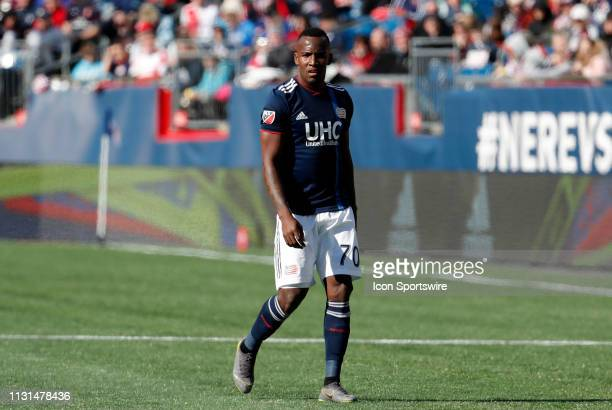 New England Revolution forward Cristian Penilla during a match between the New England Revolution and Columbus Crew SC on March 9 at Gillette Stadium...
