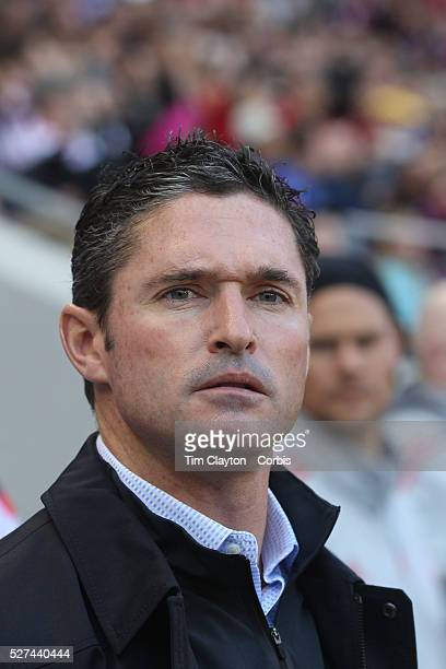 New England Revolution Head Coach Jay Heaps on the sideline during the New York Red Bulls Vs New England Revolution MLS Eastern Conference Final...