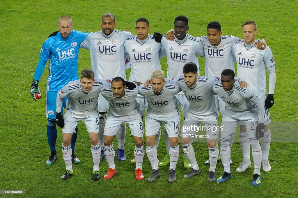 New England Revolution team photo before the 2019 MLS... : News Photo