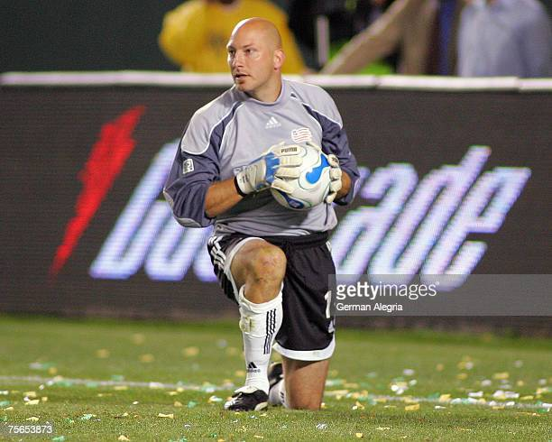 New England Revolution's Goal Keeper Matt Reis in action against the Los Angeles Galaxy during tonight's game at the Home Depot Center Carson CA...