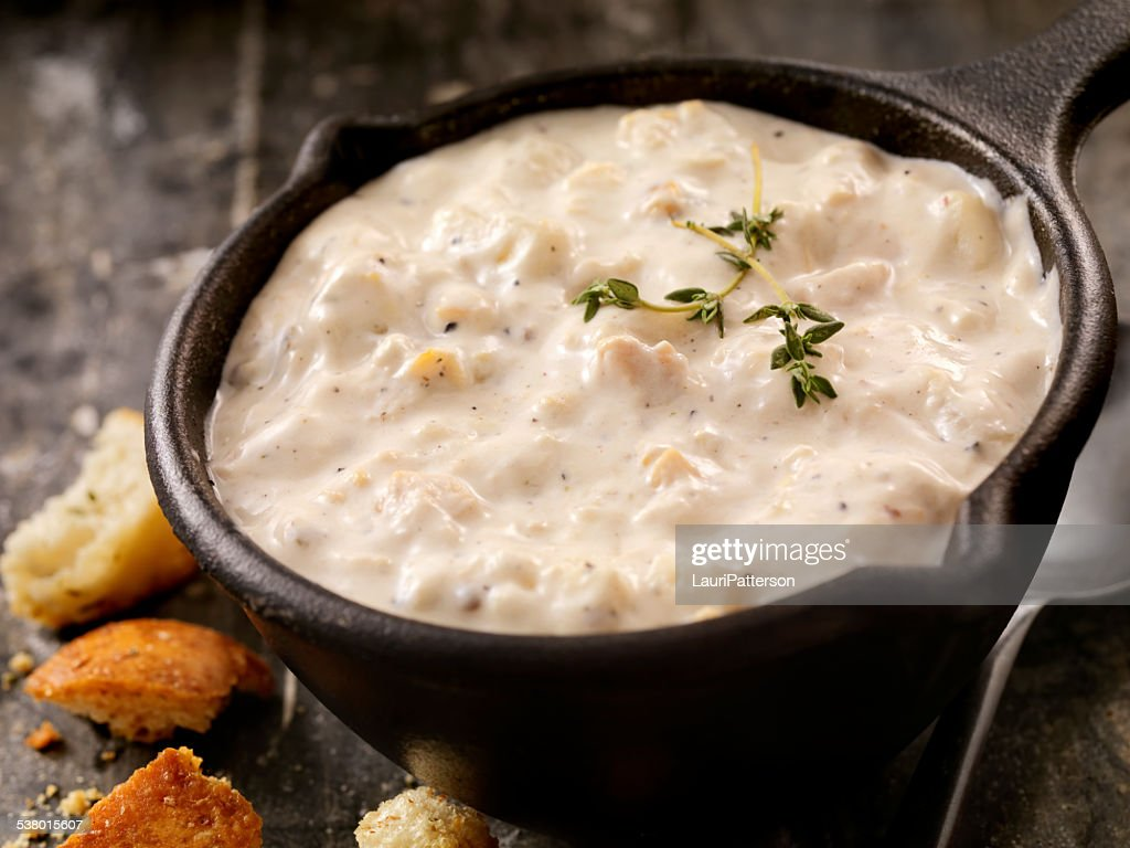 New England Style Clam Chowder : Stock Photo