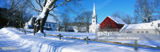 New England Town in Winter