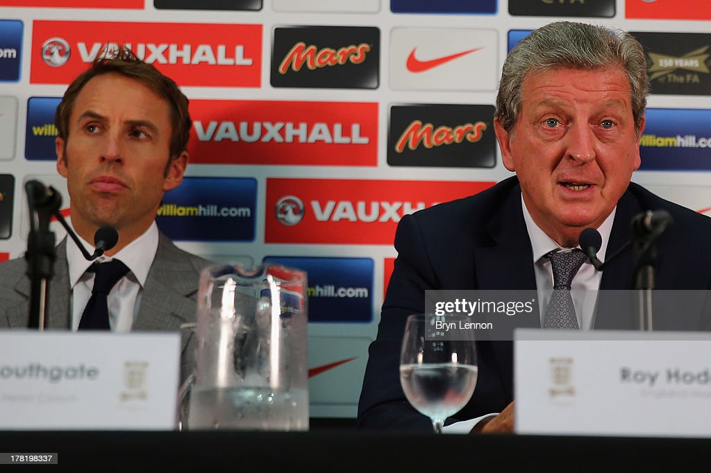 England Roy Hodgson & Gareth Southgate Press Conference : News Photo