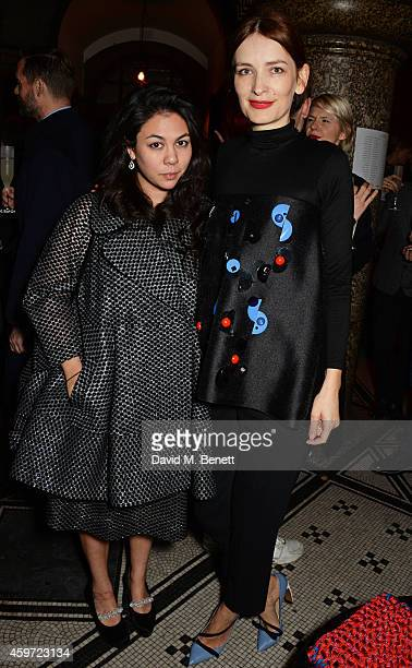 New Establishment Designer nominee Simone Rocha and Red Carpet Designer nominee Roksanda Ilincic attend the British Fashion Awards Nominees' Dinner...