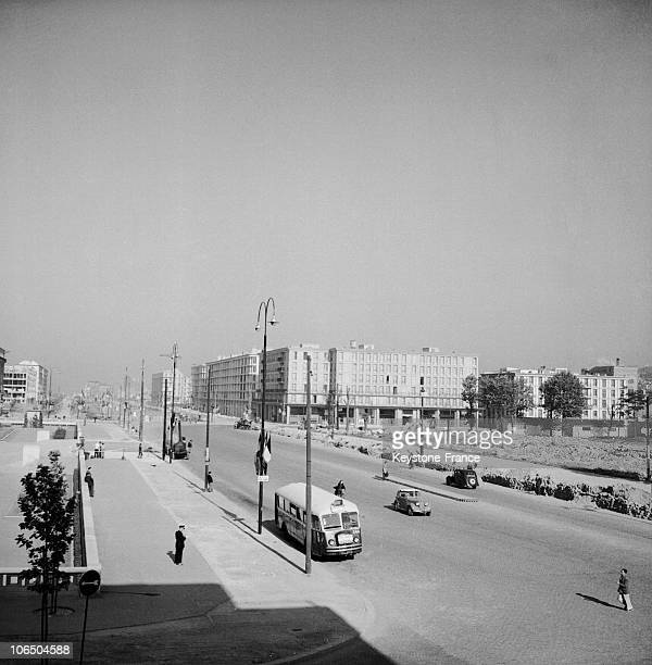 New Estates And Big Boulevard On November 15Th 1953 At Le Havre Town Center That Was Ravaged By English Bombing In 1944 Leaving 80000 People Homeless...