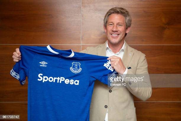 New Everton Director of Football Marcel Brands poses during a photocall on May 22 2018 at Philips Stadion in Eindhoven Netherlands